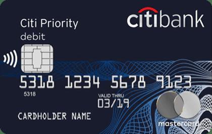 Дебетовая карта Priority Citibank