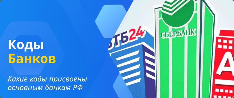 Список кодов основных банков России